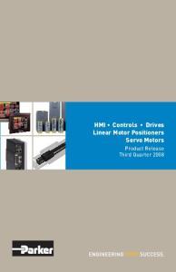 HMI Controls Drives Linear Motor Positioners Servo Motors