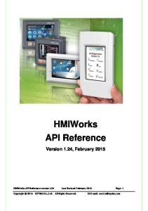HMIWorks API Reference