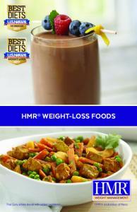 HMR WEIGHT-LOSS FOODS