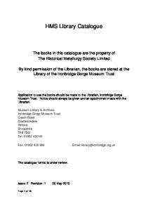 HMS Library Catalogue