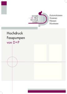 Hochdruck Fasspumpen von D+P
