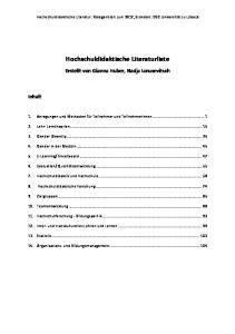 Hochschuldidaktische Literaturliste