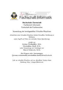 Hochschule Darmstadt - Fachbereich Informatik - Fachschaft des Fachbereiches