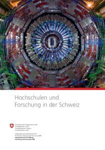 Hochschulen und Forschung in der Schweiz