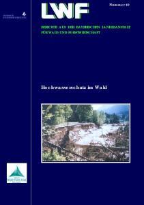 Hochwasserschutz im Wald