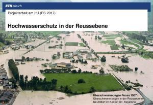 Hochwasserschutz in der Reussebene