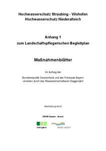 Hochwasserschutz Straubing - Vilshofen Hochwasserschutz Niederalteich. Anhang 1 zum Landschaftspflegerischen Begleitplan