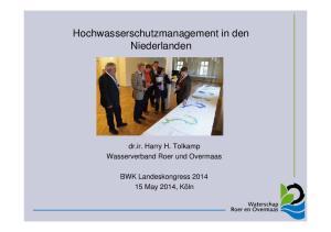 Hochwasserschutzmanagement in den Niederlanden