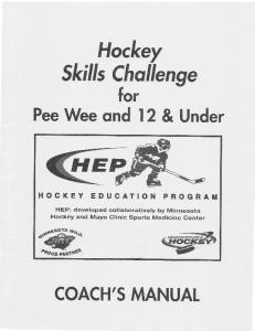Hockey Skills Chollenge for