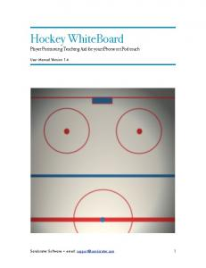 Hockey WhiteBoard Player Positioning Teaching Aid for your iphone or ipod touch