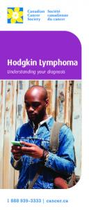 Hodgkin Lymphoma. Understanding your diagnosis