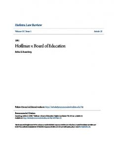Hoffman v. Board of Education