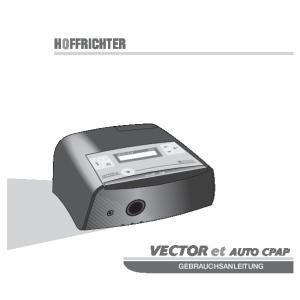 HOFFRICHTER. VECTOR et AUTO CPAP GEBRAUCHSANLEITUNG