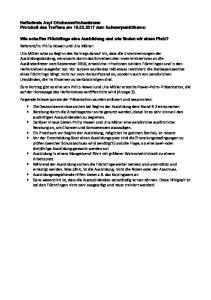 Hohenbrunn Protokoll des Treffens am zum Schwerpunktthema: