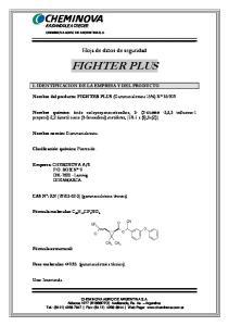 Hoja de datos de seguridad FIGHTER PLUS. Nombre del producto: FIGHTER PLUS (Gammacialotrina 15%) N