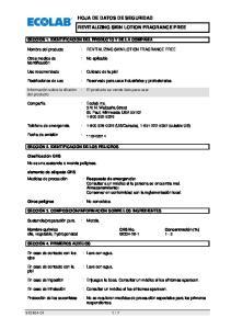 HOJA DE DATOS DE SEGURIDAD REVITALIZING SKIN LOTION FRAGRANCE FREE