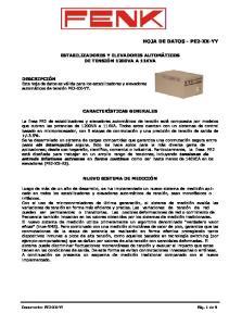 HOJA DE DATOS - PE2-XX-YY