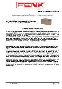HOJA DE DATOS PE3-XX-YY