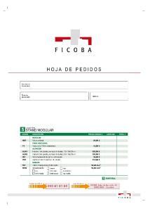 HOJA DE PEDIDOS HOJA DE PEDIDOS 7 SUBTOTAL: 8 SUBTOTAL: FICOBA, Avda. de Iparralde, IRUN - Gipuzkoa