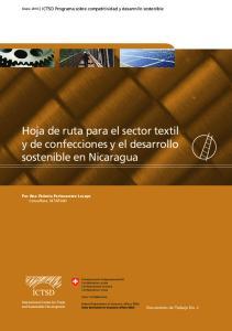 Hoja de ruta para el sector textil y de confecciones y el desarrollo sostenible en Nicaragua