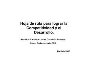 Hoja de ruta para lograr la Competitividad y el Desarrollo