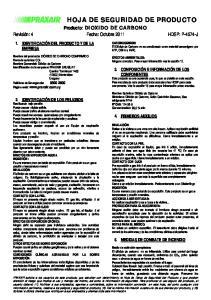 HOJA DE SEGURIDAD DE PRODUCTO
