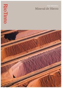 Hoja informativa Mineral de Hierro