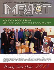 HOLIDAY FOOD DRIVE members collect for food pantry