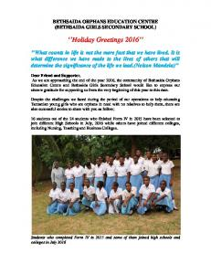 Holiday Greetings 2016