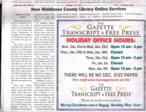 HOLIDAY OFFICE HOURS:
