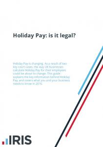 Holiday Pay: is it legal?