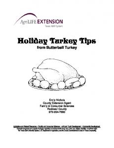 Holiday Turkey Tips from Butterball Turkey