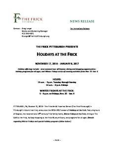 HOLIDAYS AT THE FRICK