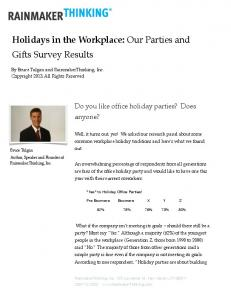 Holidays in the Workplace: Our Parties and Gifts Survey Results