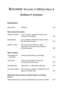 HOLINESS VOLUME 2 (2016) ISSUE 2