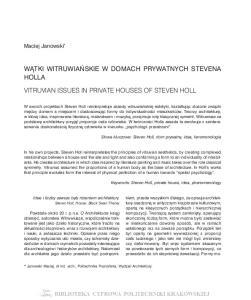 HOLLA. Maciej Janowski *