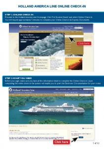 Holland America Line Online Check-in