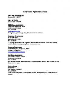 Hollywood Apartment Guide