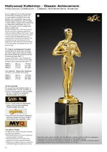 Hollywood Kollektion - Classic Achievement Hollywood Collection - Classic Achievement Awards