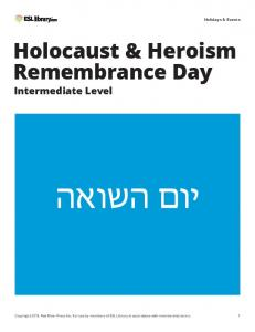 Holocaust & Heroism Remembrance Day