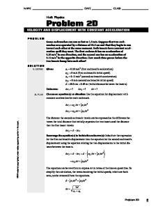 Holt Physics Problem 2D