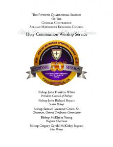 Holy Communion Worship Service