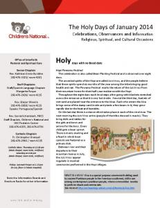 Holy days with no fixed date