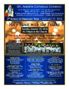 Holy Hour with the Friars