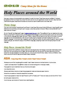 Holy Places around the World