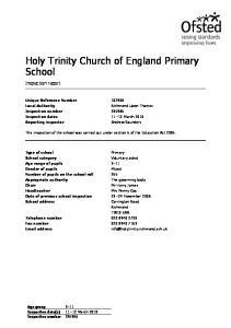 Holy Trinity Church of England Primary School