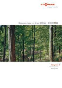 Holzheizsysteme von 50 bis 1250 kw