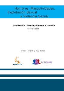 Hombres, Masculinidades, Explotación Sexual y Violencia Sexual