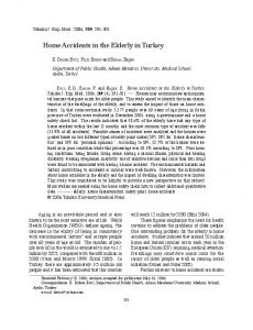 Home Accidents in the Elderly in Turkey