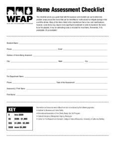 Home Assessment Checklist